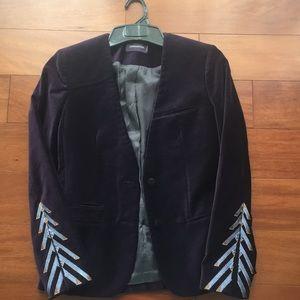 Zadig & Voltaire purple velvet jacket